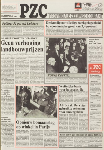 Provinciale Zeeuwse Courant 1986-02-06