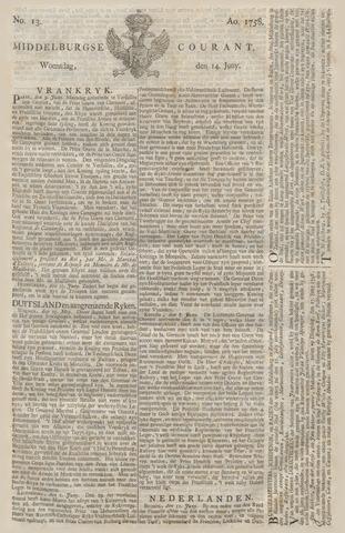 Middelburgsche Courant 1758-06-14