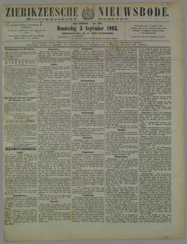 Zierikzeesche Nieuwsbode 1903-09-03