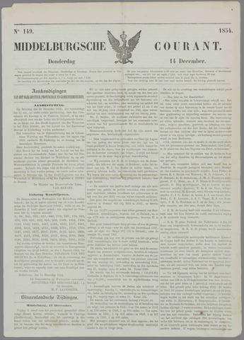 Middelburgsche Courant 1854-12-14