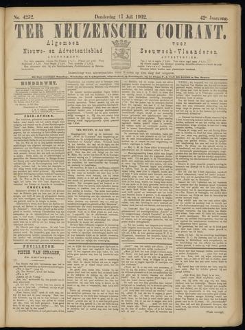 Ter Neuzensche Courant. Algemeen Nieuws- en Advertentieblad voor Zeeuwsch-Vlaanderen / Neuzensche Courant ... (idem) / (Algemeen) nieuws en advertentieblad voor Zeeuwsch-Vlaanderen 1902-07-17