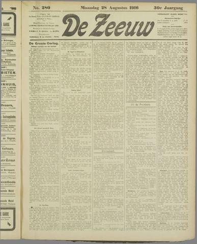 De Zeeuw. Christelijk-historisch nieuwsblad voor Zeeland 1916-08-28