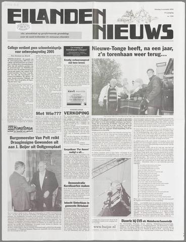 Eilanden-nieuws. Christelijk streekblad op gereformeerde grondslag 2004-11-09