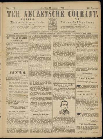 Ter Neuzensche Courant. Algemeen Nieuws- en Advertentieblad voor Zeeuwsch-Vlaanderen / Neuzensche Courant ... (idem) / (Algemeen) nieuws en advertentieblad voor Zeeuwsch-Vlaanderen 1902-01-11