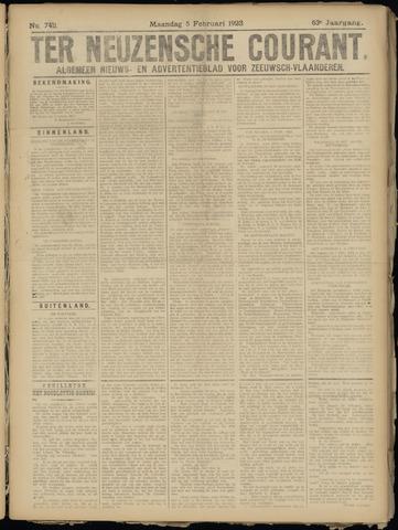 Ter Neuzensche Courant. Algemeen Nieuws- en Advertentieblad voor Zeeuwsch-Vlaanderen / Neuzensche Courant ... (idem) / (Algemeen) nieuws en advertentieblad voor Zeeuwsch-Vlaanderen 1923-02-05