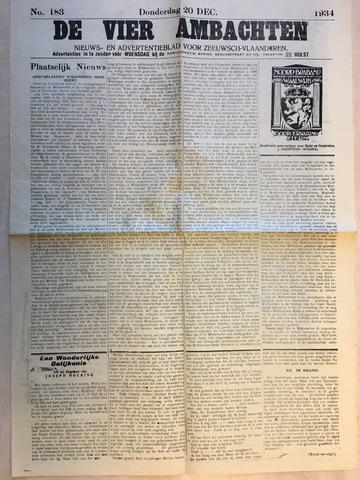 Zelandia. Nieuws-en advertentieblad voor Zeeland | edities: Het Land van Hulst en De Vier Ambachten 1934