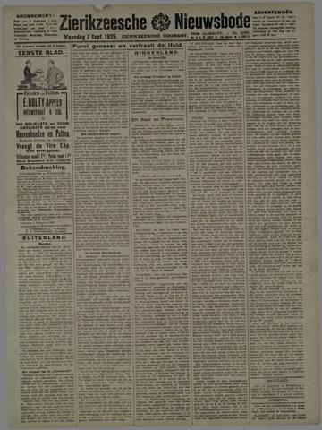 Zierikzeesche Nieuwsbode 1925-09-07