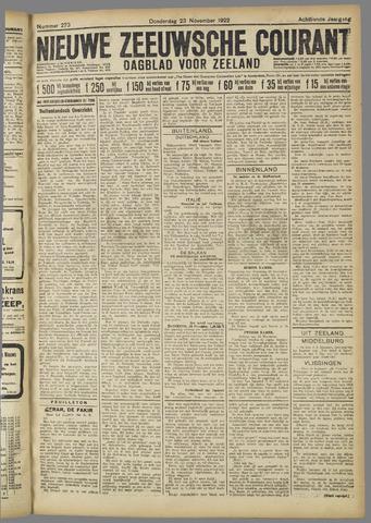 Nieuwe Zeeuwsche Courant 1922-11-23