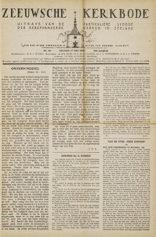 Zeeuwsche kerkbode, weekblad gewijd aan de belangen der gereformeerde kerken/ Zeeuwsch kerkblad 1946-05-17