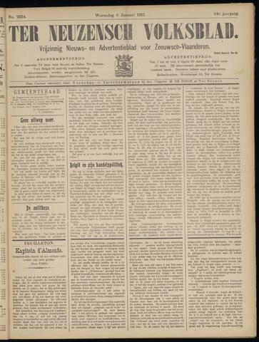 Ter Neuzensch Volksblad. Vrijzinnig nieuws- en advertentieblad voor Zeeuwsch- Vlaanderen / Zeeuwsch Nieuwsblad. Nieuws- en advertentieblad voor Zeeland 1913-01-08