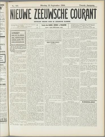 Nieuwe Zeeuwsche Courant 1906-09-25
