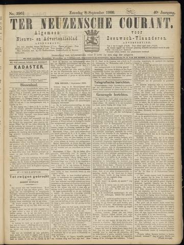 Ter Neuzensche Courant. Algemeen Nieuws- en Advertentieblad voor Zeeuwsch-Vlaanderen / Neuzensche Courant ... (idem) / (Algemeen) nieuws en advertentieblad voor Zeeuwsch-Vlaanderen 1900-09-08