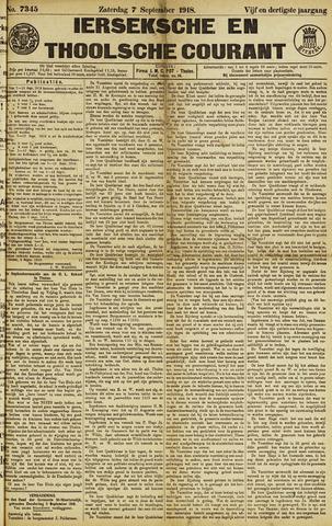 Ierseksche en Thoolsche Courant 1918-09-07