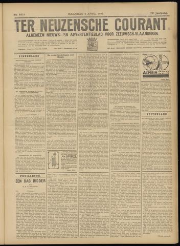 Ter Neuzensche Courant. Algemeen Nieuws- en Advertentieblad voor Zeeuwsch-Vlaanderen / Neuzensche Courant ... (idem) / (Algemeen) nieuws en advertentieblad voor Zeeuwsch-Vlaanderen 1932-04-04