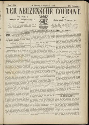 Ter Neuzensche Courant. Algemeen Nieuws- en Advertentieblad voor Zeeuwsch-Vlaanderen / Neuzensche Courant ... (idem) / (Algemeen) nieuws en advertentieblad voor Zeeuwsch-Vlaanderen 1880-08-04