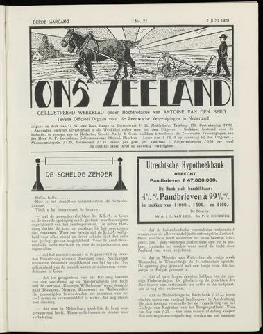 Ons Zeeland / Zeeuwsche editie 1928-06-02