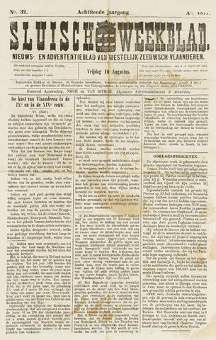 Sluisch Weekblad. Nieuws- en advertentieblad voor Westelijk Zeeuwsch-Vlaanderen 1877-08-10