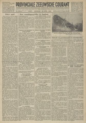 Provinciale Zeeuwse Courant 1942-04-28