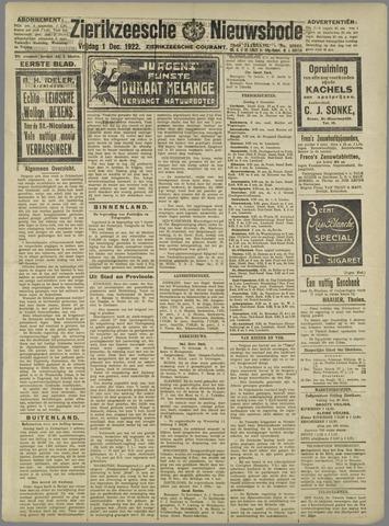 Zierikzeesche Nieuwsbode 1922-12-01