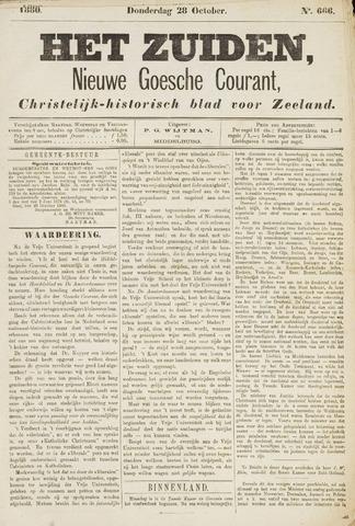 Het Zuiden, Christelijk-historisch blad 1880-10-28