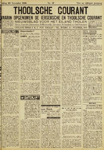 Ierseksche en Thoolsche Courant 1936-11-20