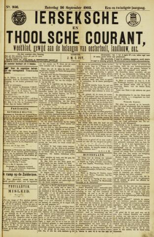Ierseksche en Thoolsche Courant 1903-09-26