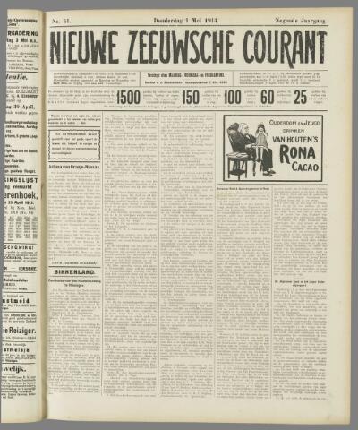 Nieuwe Zeeuwsche Courant 1913-05-01