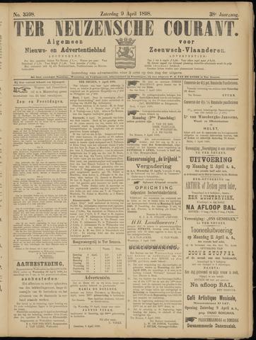 Ter Neuzensche Courant. Algemeen Nieuws- en Advertentieblad voor Zeeuwsch-Vlaanderen / Neuzensche Courant ... (idem) / (Algemeen) nieuws en advertentieblad voor Zeeuwsch-Vlaanderen 1898-04-09