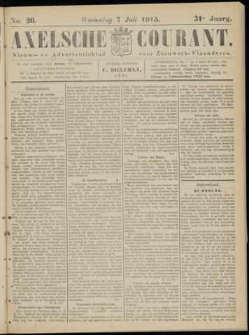 Axelsche Courant 1915-07-07