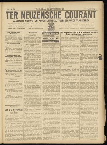 Ter Neuzensche Courant. Algemeen Nieuws- en Advertentieblad voor Zeeuwsch-Vlaanderen / Neuzensche Courant ... (idem) / (Algemeen) nieuws en advertentieblad voor Zeeuwsch-Vlaanderen 1934-09-26
