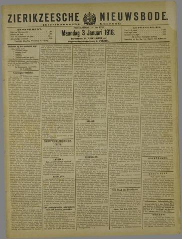 Zierikzeesche Nieuwsbode 1916-01-03