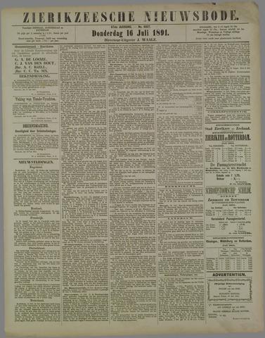 Zierikzeesche Nieuwsbode 1891-07-16