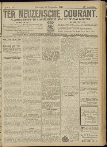 Ter Neuzensche Courant. Algemeen Nieuws- en Advertentieblad voor Zeeuwsch-Vlaanderen / Neuzensche Courant ... (idem) / (Algemeen) nieuws en advertentieblad voor Zeeuwsch-Vlaanderen 1915-09-25