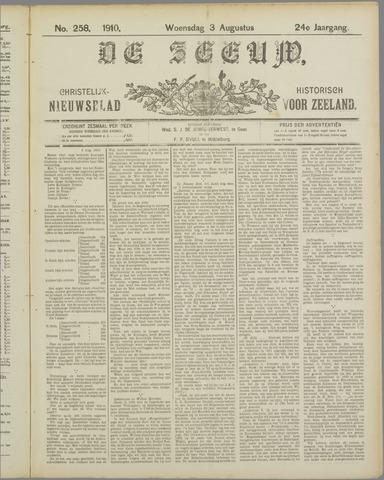 De Zeeuw. Christelijk-historisch nieuwsblad voor Zeeland 1910-08-03