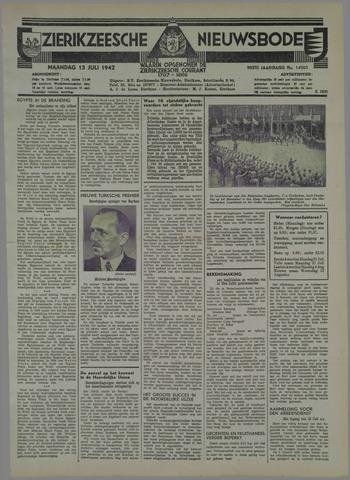 Zierikzeesche Nieuwsbode 1942-07-13