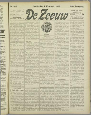 De Zeeuw. Christelijk-historisch nieuwsblad voor Zeeland 1924-02-07