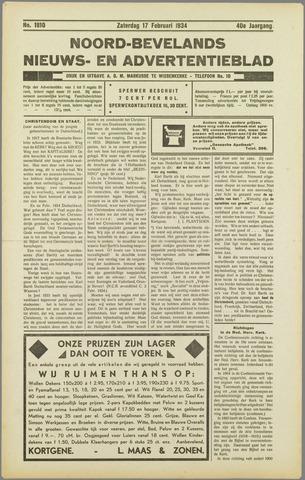 Noord-Bevelands Nieuws- en advertentieblad 1934-02-17