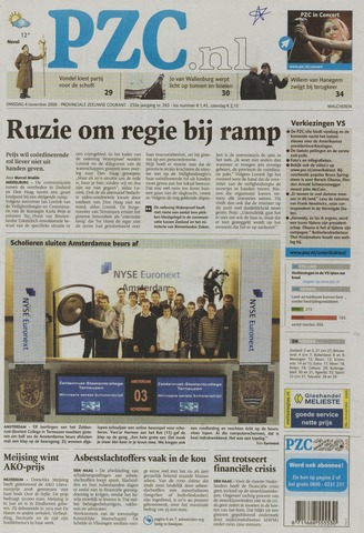 Provinciale Zeeuwse Courant 2008-11-04