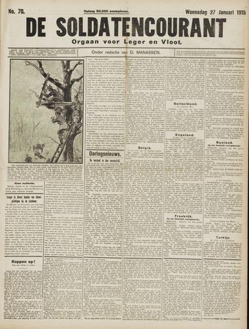 De Soldatencourant. Orgaan voor Leger en Vloot 1915-01-27