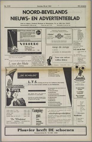 Noord-Bevelands Nieuws- en advertentieblad 1962-07-28