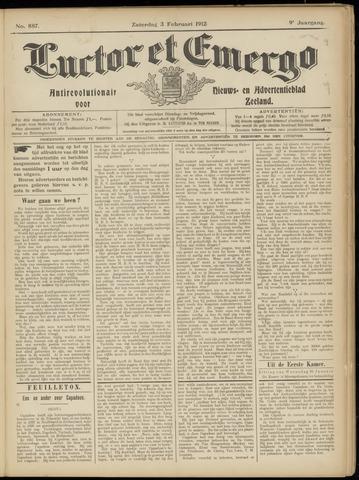 Luctor et Emergo. Antirevolutionair nieuws- en advertentieblad voor Zeeland / Zeeuwsch-Vlaanderen. Orgaan ter verspreiding van de christelijke beginselen in Zeeuwsch-Vlaanderen 1912-02-03