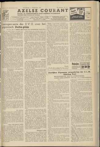 Axelsche Courant 1956-02-11