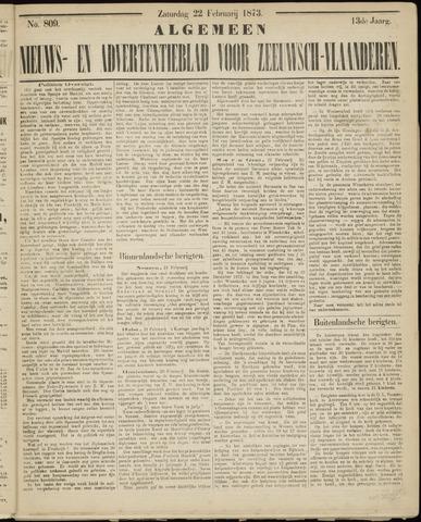 Ter Neuzensche Courant. Algemeen Nieuws- en Advertentieblad voor Zeeuwsch-Vlaanderen / Neuzensche Courant ... (idem) / (Algemeen) nieuws en advertentieblad voor Zeeuwsch-Vlaanderen 1873-02-22