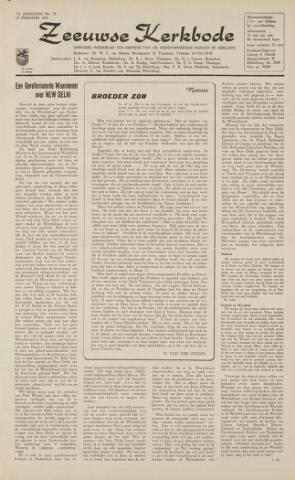 Zeeuwsche kerkbode, weekblad gewijd aan de belangen der gereformeerde kerken/ Zeeuwsch kerkblad 1962-02-16