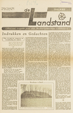 De landstand in Zeeland, geïllustreerd weekblad. 1944