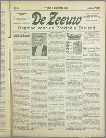 De Zeeuw. Christelijk-historisch nieuwsblad voor Zeeland 1930-12-05