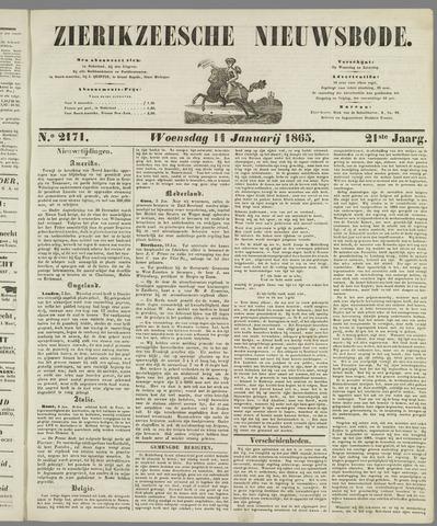 Zierikzeesche Nieuwsbode 1865-01-11