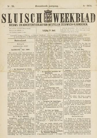 Sluisch Weekblad. Nieuws- en advertentieblad voor Westelijk Zeeuwsch-Vlaanderen 1876-06-09