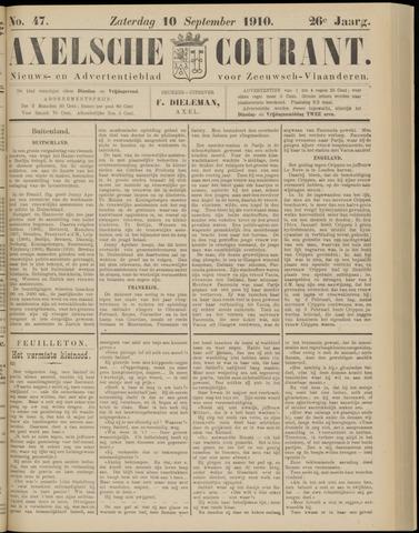 Axelsche Courant 1910-09-10