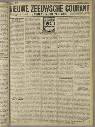 Nieuwe Zeeuwsche Courant 1920-11-29